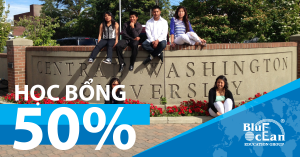 Học bổng 50% tại Central Washington University